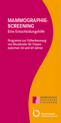 "Titelblatt Flyer ""Mammographie-Screening"""